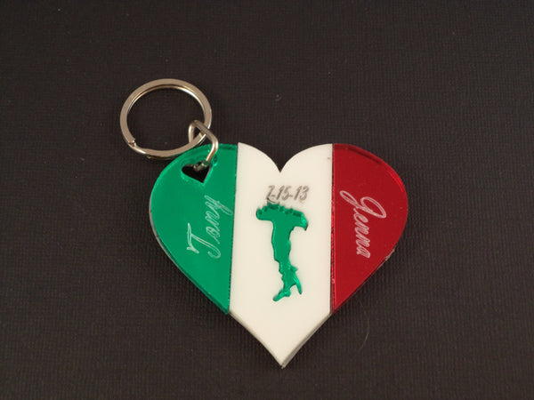 Italian Heart Key Chain