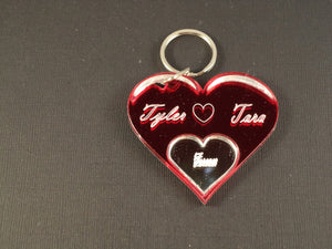 Teardrop Heart Key Chain