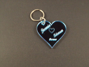 Single Heart Key Chain