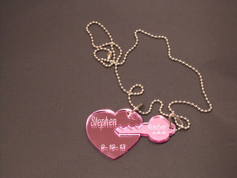 Dogtag Heart and Key