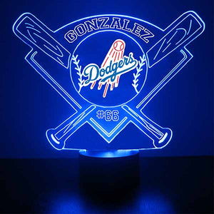 Los Angeles Dodgers Baseball LED Light Sports Sign