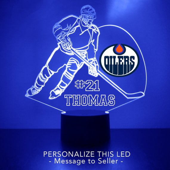 Edmonton Oilers Hockey Player LED Sports Sign