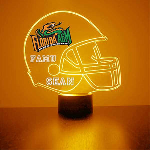 Florida A&M Helmet LED Light Sports Sign