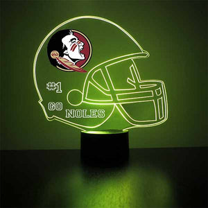 FSU Seminoles Helmet LED Light Sports Sign