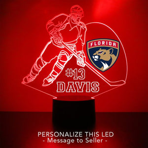 Florida Panthers Hockey Player LED Night Light