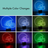 Ball State Cardinals Helmet LED Sports Fan Lamp, Custom Night Light, Free Personalization, 16 Color Option, Featuring Licensed Decal