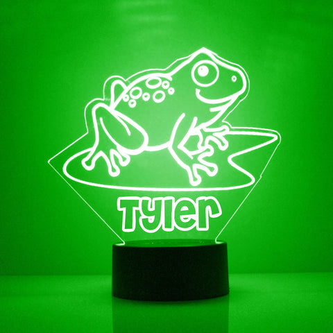 Frog Night Light, Personalized Free, LED Night Lamp, With Remote Control, Engraved Gift, 16 Color Change