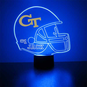 Georgia Tech Helmet LED Light Sports Sign