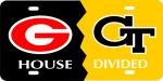 House Divided Georgia/Georgia Tech License Plate