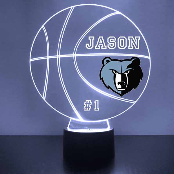 Memphis Grizzlies Basketball LED Light Sports Sign
