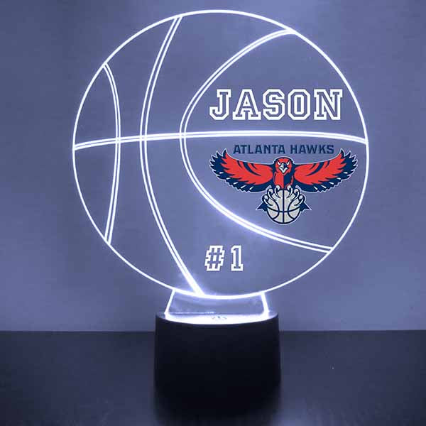 Atlanta Hawks Basketball LED Light Sports Sign