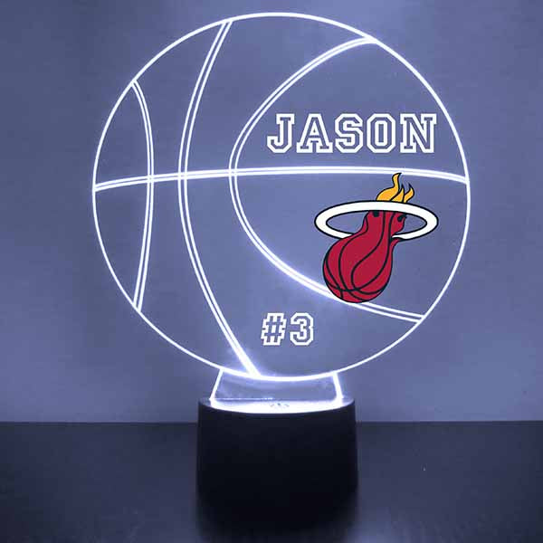 Miami Heat Basketball LED Light Sports Sign
