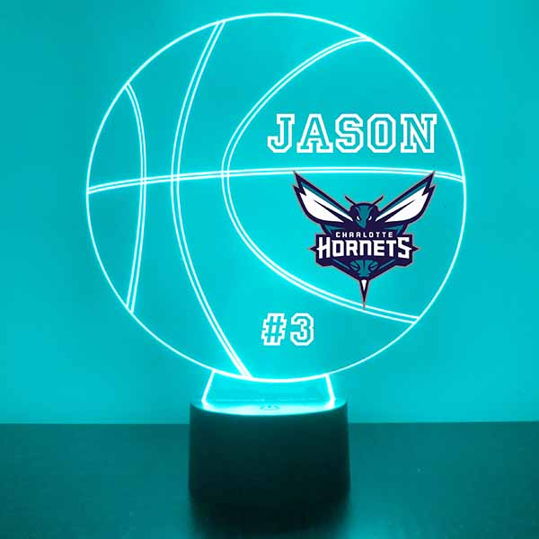 Charlotte Hornets Basketball LED Light Sports Sign