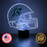 Howard University Bison Football LED Sports Fan Lamp, Custom Night Light, Free Personalization, 16 Color Option, Featuring Licensed Decal