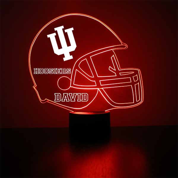 Indiana University Helmet LED Light Sports Sign