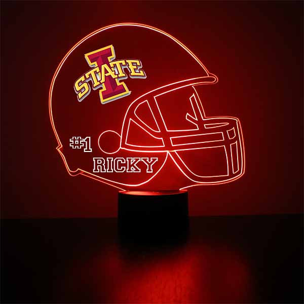 Iowa State University Helmet LED Light Sports Sign