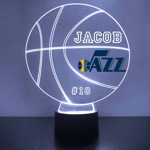Utah Jazz Basketball LED Light Sports Sign