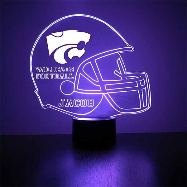 Kansas State Helmet LED Light Sports Sign