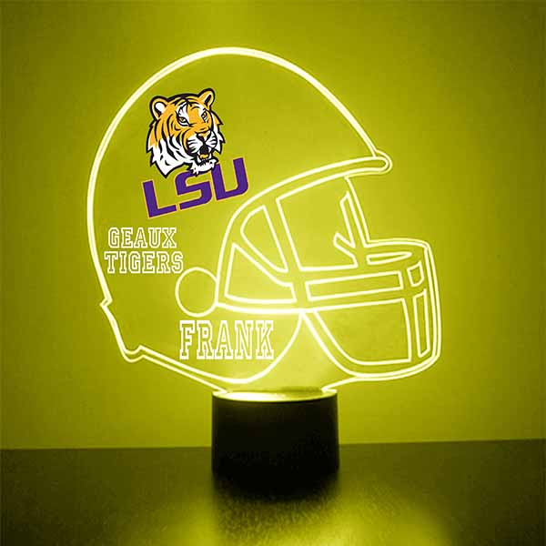 Louisiana State University Helmet LED Light Up Sports Sign