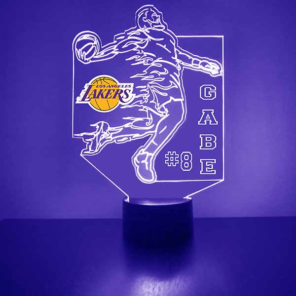 Los Angeles Lakers Basketball Player LED Light Sports Sign