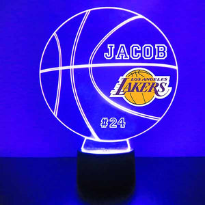 Los Angeles Lakers Basketball LED Light Sports Sign