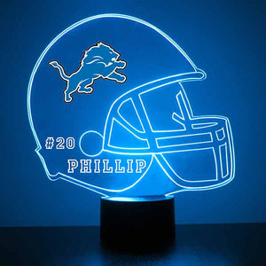 Detroit Lions Football LED Sports Sign