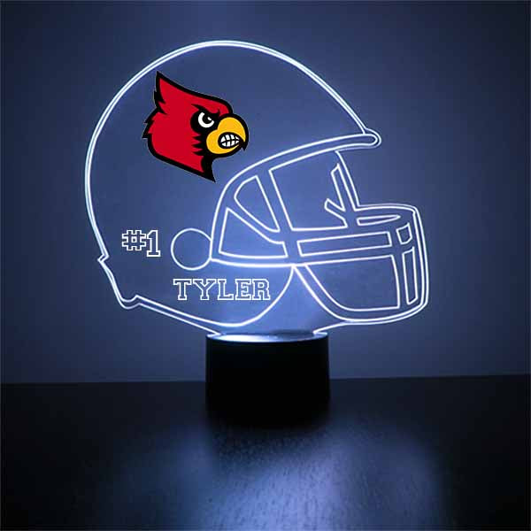 Louisville Cardinals Helmet LED Light Sports Sign