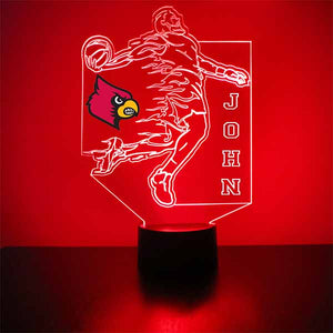 Louisville Cardinals Basketball Player LED Light Sports Sign