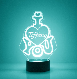 I Heart You LED Night Light