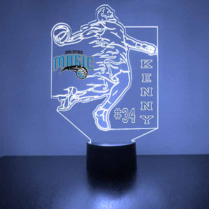 Orlando Magic Basketball Player LED Light Sports Sign