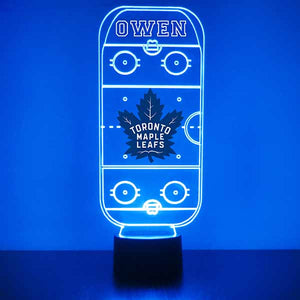 Toronto Maple Leaf Hockey Rink LED Sports Lamp