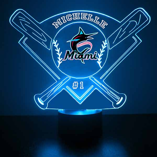 Miami Marlins Baseball LED Light Sports Sign