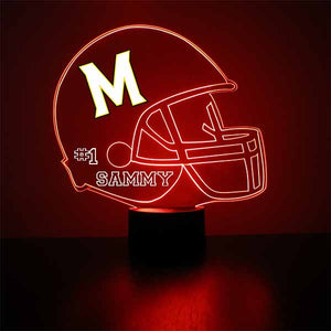 University of Maryland Terrapins Helmet LED Light Up Sports Sign