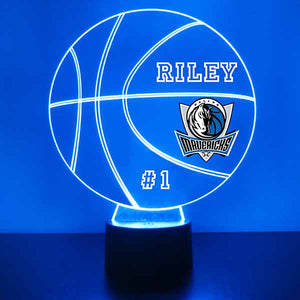 Dallas Mavericks Basketball LED Light Sports Sign
