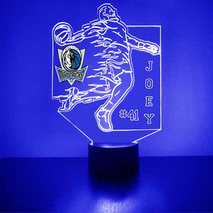 Dallas Mavericks Basketball Player LED Light Sports Sign