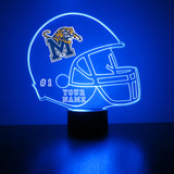 Memphis Tigers Football LED Sports Fan Lamp,  Custom Night Light, Free Personalization, 16 Color Option, Featuring Licensed Decal