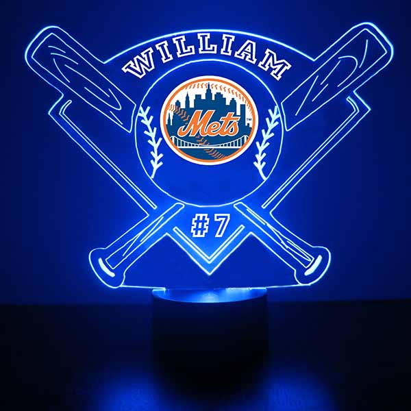 New York Mets Baseball LED Light Sports Sign