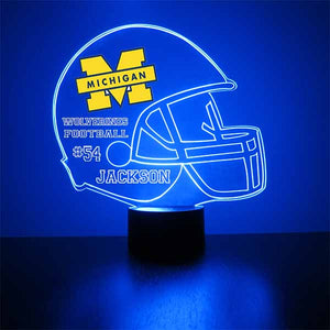 U of Michigan Wolverines LED Light Up Sports Sign