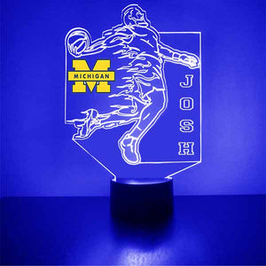 University of Michigan Wolverines LED Light Sports Sign