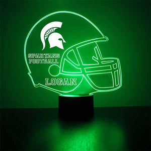 Michigan State Helmet LED Light Sports Sign