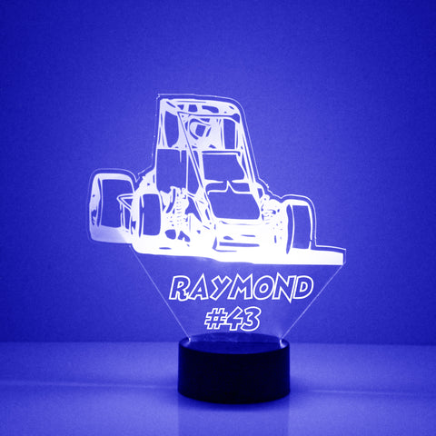 Box Car Racing Car Night Light, Personalized Free, LED Night Lamp, With Remote Control, Engraved Gift, 16 Color Change