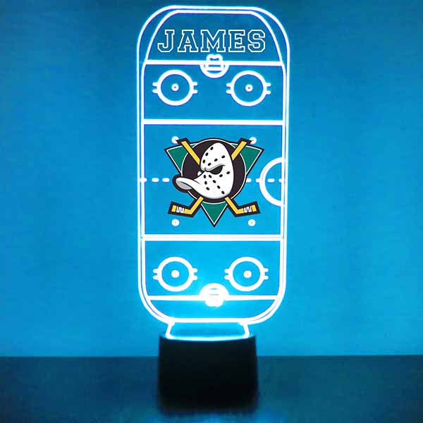 Mighty Ducks Hockey Rink LED Sports Sign