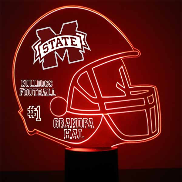 Mississippi State Helmet LED Light Up Sports Sign