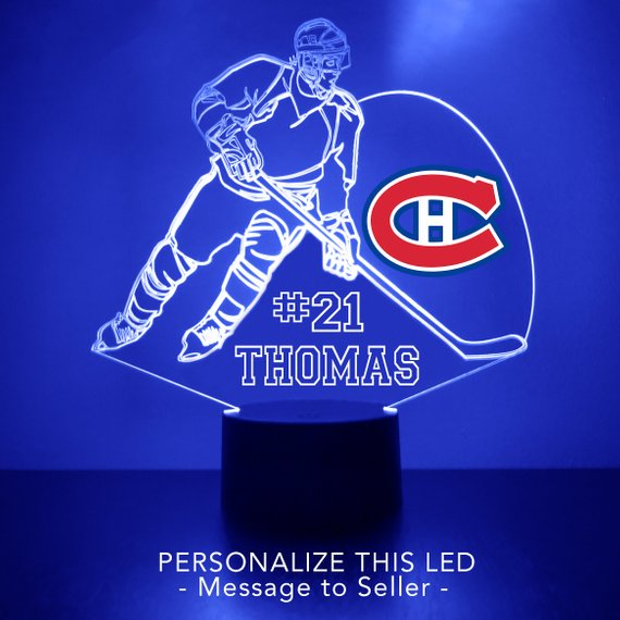 Montreal Canadiens Hockey Player LED Night Light