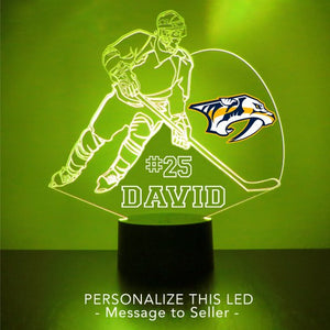 Nashville Predators Hockey Player LED Night Light