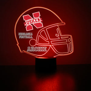 Nebraska Cornhuskers Helmet LED Light Up Sports Sign