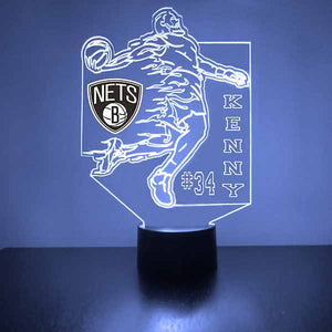 Brooklyn Nets Basketball Player LED Light Sports Sign