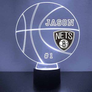 Brooklyn Nets Basketball LED Light Sports Sign
