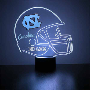 North Carolina Tarheels Helmet LED Light Sports Sign