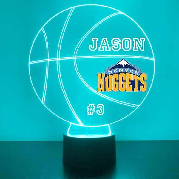 Denver Nuggets Basketball LED Light Sports Sign